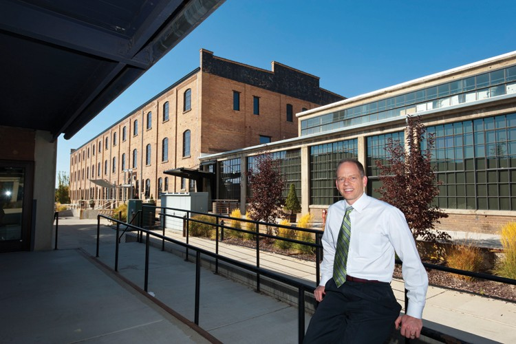 Matt Godfrey, who just finished three terms as mayor of Ogden, Utah, pushed for downtown redevelopment in buildings such as the former American Can Company, now home to Amer Spor