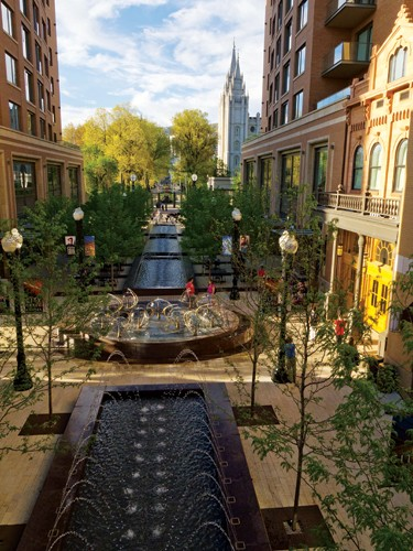 City Creek Center in Salt Lake City, a new downtown project developed by The Church of Jesus Christ of Latter-day Saints.