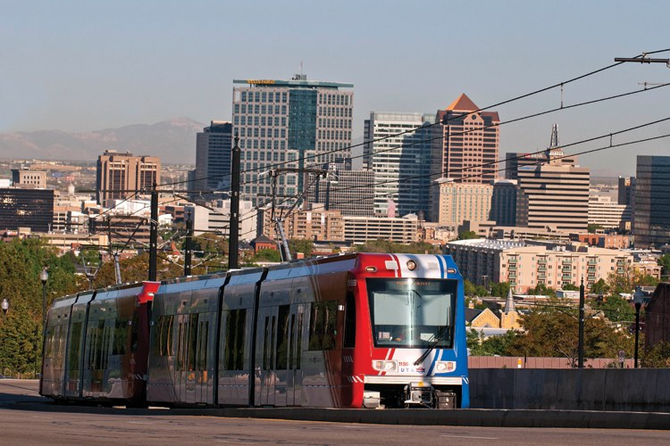 Utah's mass transit revolution began before the 2002 Olympics with the federally funded TRAX light rail