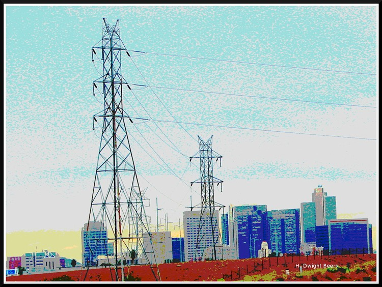 Power lines to Phoenix, Arizona