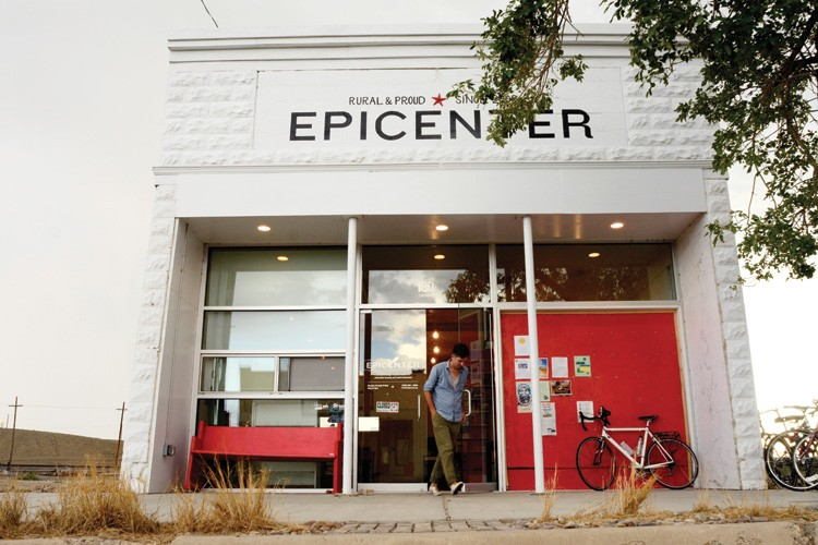 The Epicenter was a potato chip storage facility before the young architects who founded the design and social services center renovated the building.