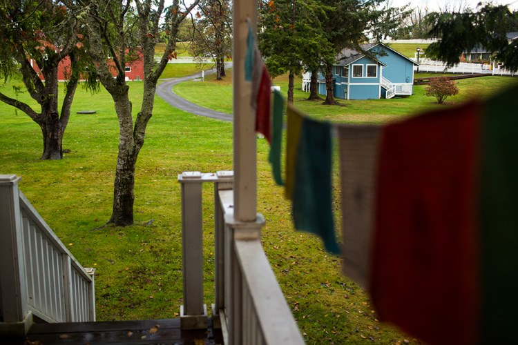 Historic homes now functioning as gift shops for knick knacks and other treasures populate a quiet Port Gamble neighborhood. The town, founded in 1853 as a base of operations for a timber mill, is now mainly a tourist destination during the summer months.