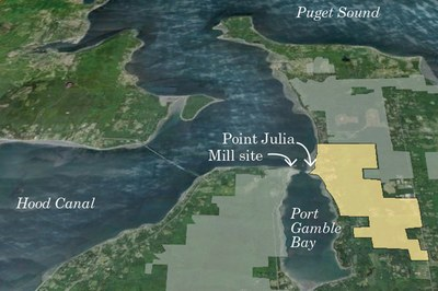 Property boundaries of Pope Resources and S'Klallam Reservation