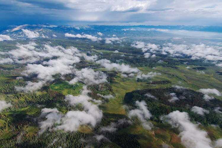 Noble Basin in the Upper Hoback region of the Wyoming Range, where the Trust for Public Land has agreed to pay $8.75 million to a Texas energy company in order to retire 58,000 acres of gas leases, conserving this part of the Greater Yellowstone in perpetuity.