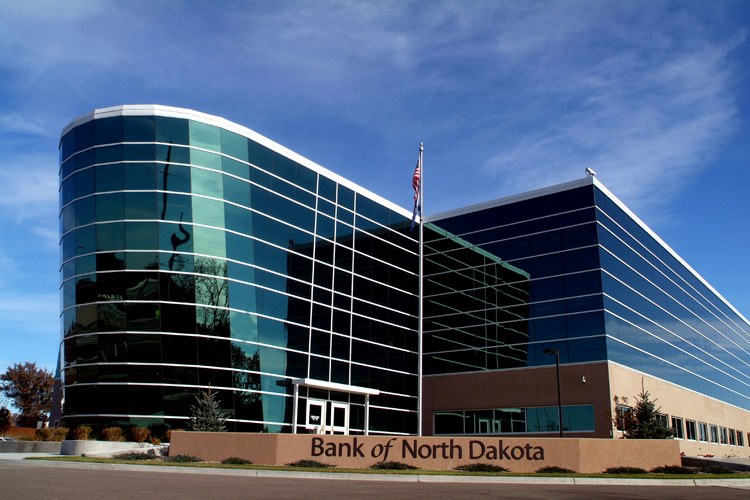 The Bank of North Dakota's headquarters in Bismarck.