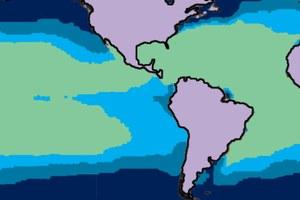 Oceanic calcium carbonate saturation levels