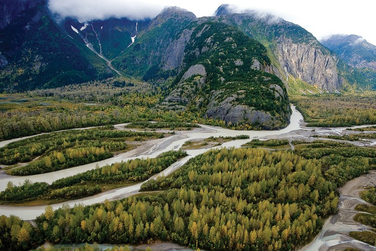 The Taku River on Tlingit traditional lands in the about-to-boom northwestern corner of British Columbia. Conservation Northwest head Mitch Friedman says the province has a low number of environmental watchdog groups.