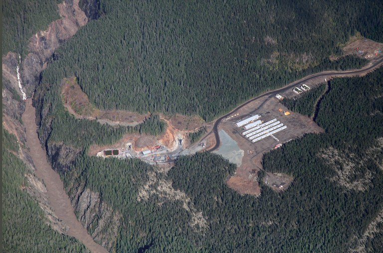 The Forrest Kerr hydro project, the first of three run-of-the-river projects slated for Tahltan Nation tr