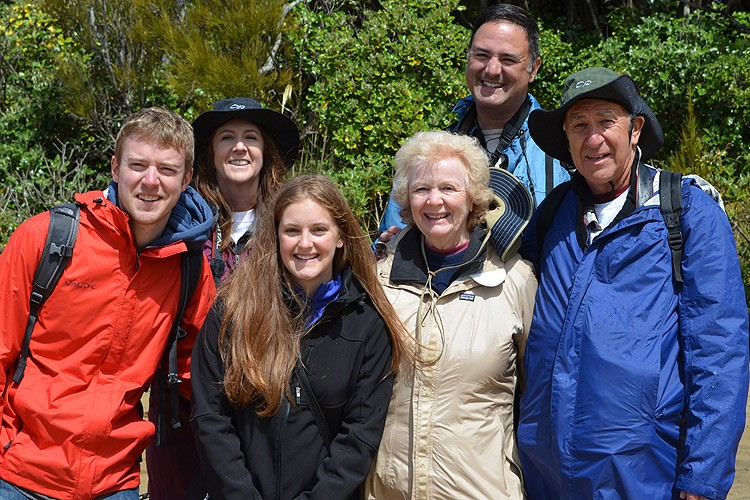 Left to right: Michael Kirst, Cindy Payne, Marian Lyman Kirst, Barb Croissant, Dan Payne, Lee Croissant