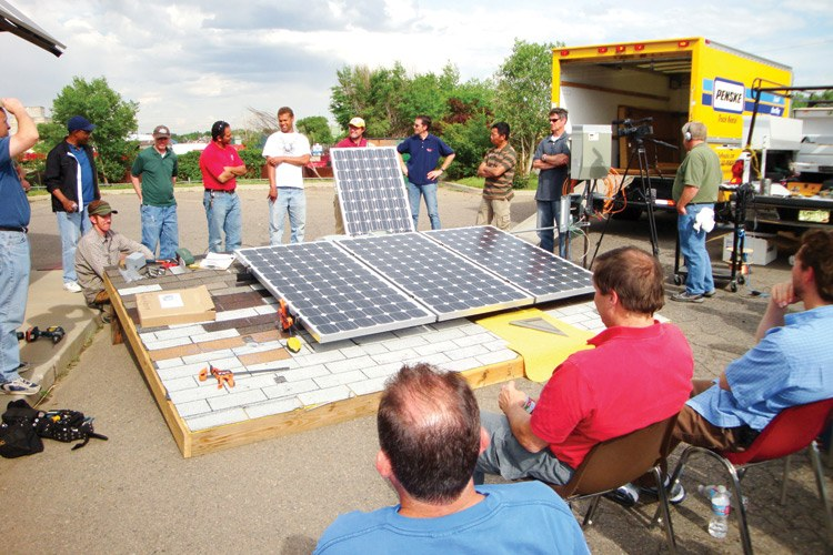 An iCAST solar PV installation training program in Denver