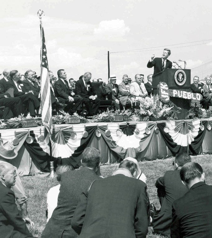 One month later, president John F. Kennedy flew to Pueblo to dedicate the project.