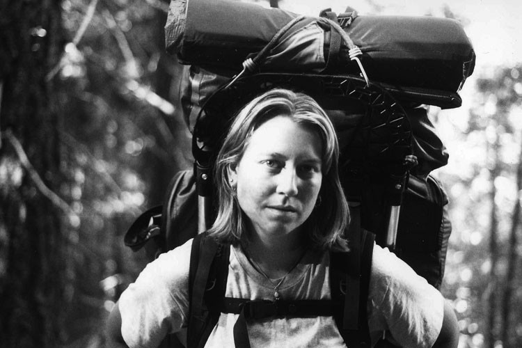 Cheryl Strayed on the Pacific Crest Trail in southern California, June 1995.