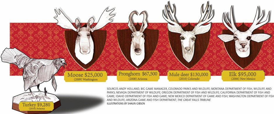 Big game tag auctions raise big bucks for Western states