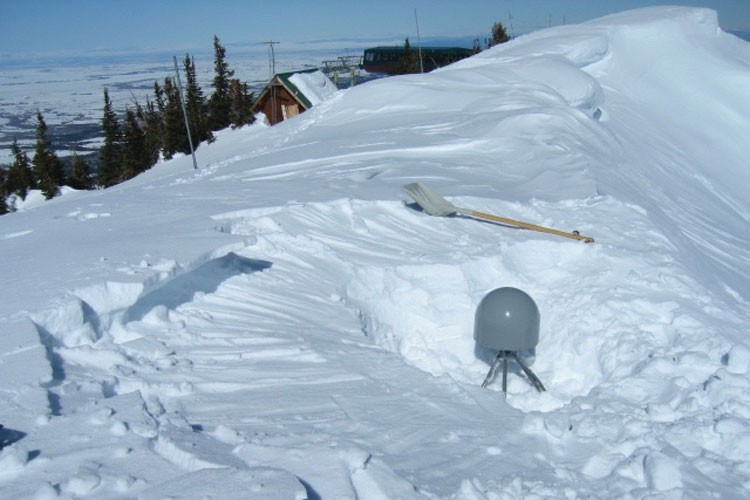 Station P708 was located at the top of Grand Targhee Ski Area in Wyoming, where, one winter, engineers had to dig it out of the snow three times to keep the solar-powered batteries charging. It has since been moved to a less snow-prone spot down the mountain.