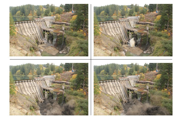 The breaching of Condit Dam, in four images