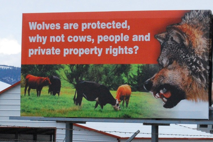 Wallowa County, Oregon, billboard