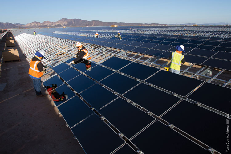 The fading arizona town of gila bend bets big on solar - Agua caliente solar ...