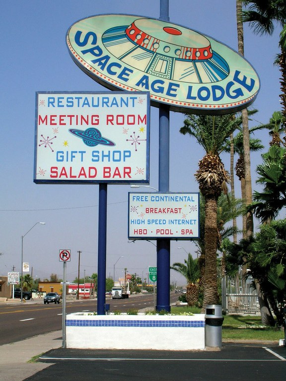 Downtown Gila Bend, Arizona, and some of its quirkier landmarks.
