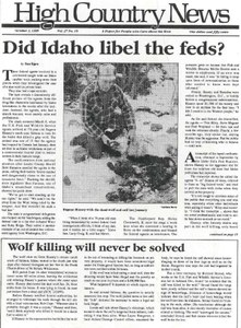 Did Idaho libel the feds?