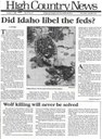 Did Idaho libel the feds?