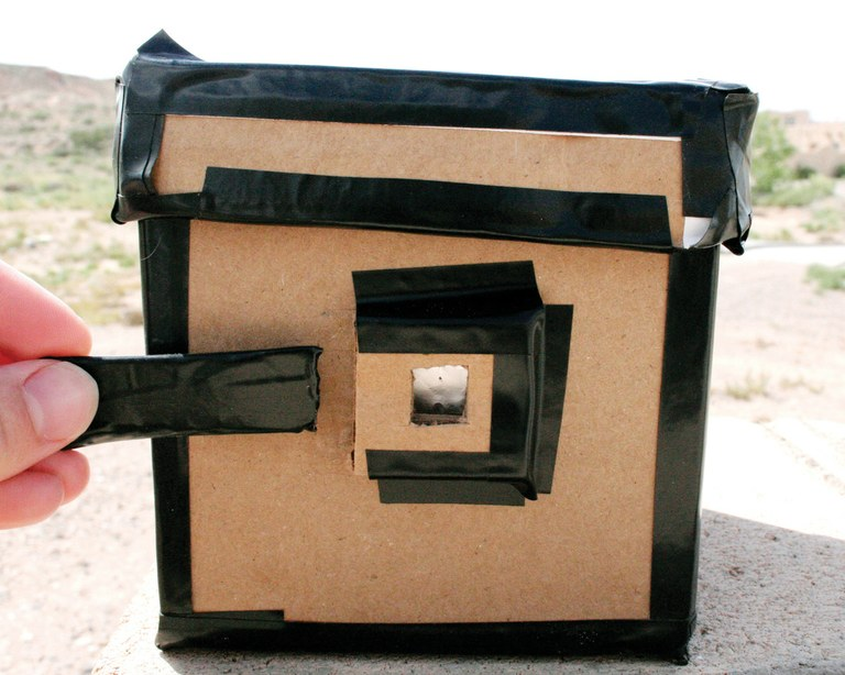 A pinhole camera used by students at Sevilleta Long Term Ecological Research station in New Mexico.