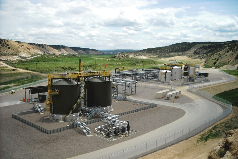 ExxonMobil's new field processing facility in the Piceance Basin in western Colorado.