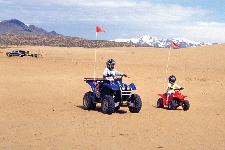 Riders start young at the Winnemucca Dunes in Nevada.