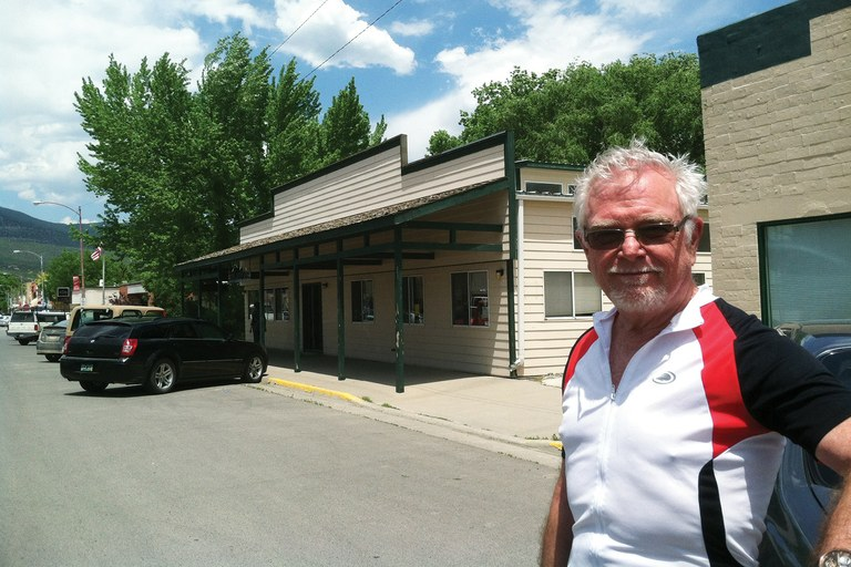 Former Paonia, Colorado, town manager John Johnson visited his former home to see local friends.