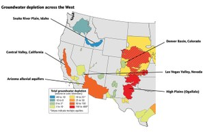 Groundwater depletion around the West
