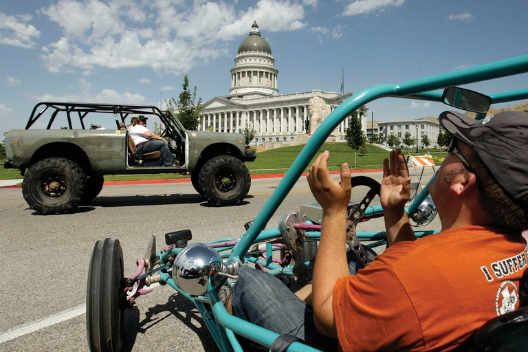 Off-road enthusiasts gather at the State Capitol in Salt Lake City in 2011 for the Take Back Utah rally, where Gov. Gary Herbert called for renewed vigor in the fight to keep broad access to Utah's public lands.