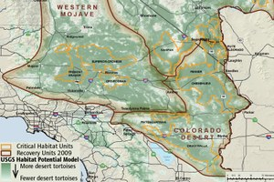 Desert tortoise habitat map