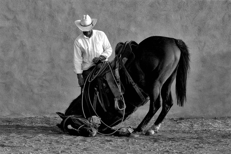 Sparrow and Her Cowboy Richard, San Marcos, New Mexico, 2004.