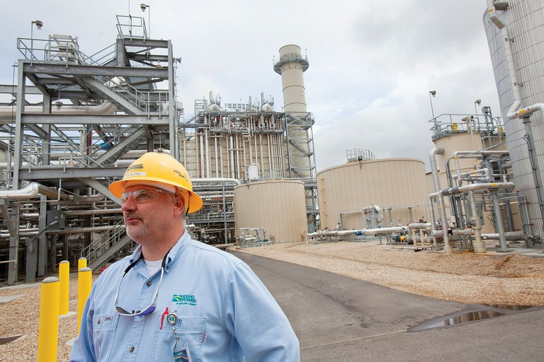 Mike Williams of Idaho Power at the company's new Langley Gulch natural gas plant, which can generate up to 330 megawatts.