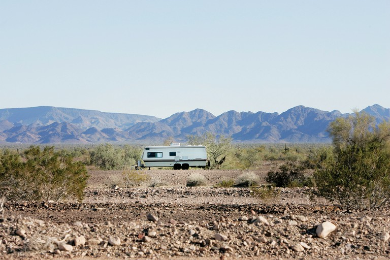 A trailer in Quartzsite, Arizona.