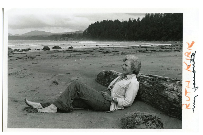 Guidebook author Ruth Kirk in 1980.