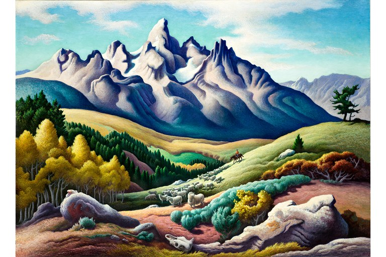 "Thomas Hart Benton, ""The Sheepherder,"" 1957"