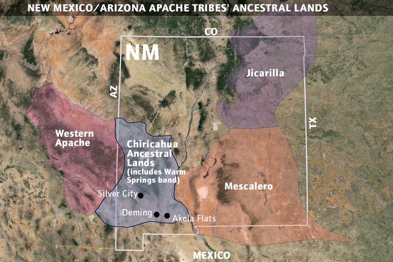 Apache lands in New Mexico and Arizona.