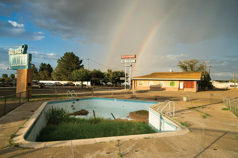 A boarded-up motel in Luna County, New Mexico, where unemployment is at 20 percent and nearly a third of the population lives below the poverty line.