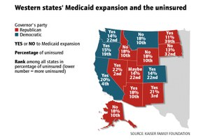 Western GOP governors buck their party on Obamacare