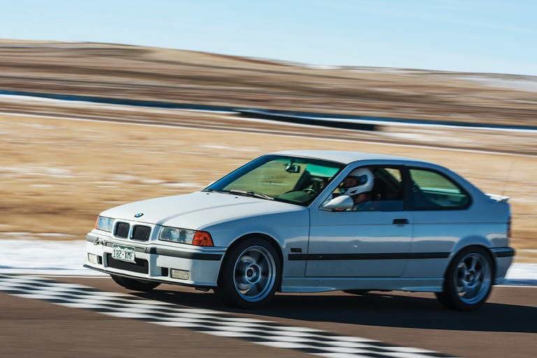 A driver on the track at the High Plains Raceway outside Byers, Colorado.