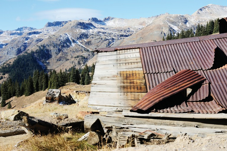 Abandoned mine sites dot the hills outside Silverton, Colorado.