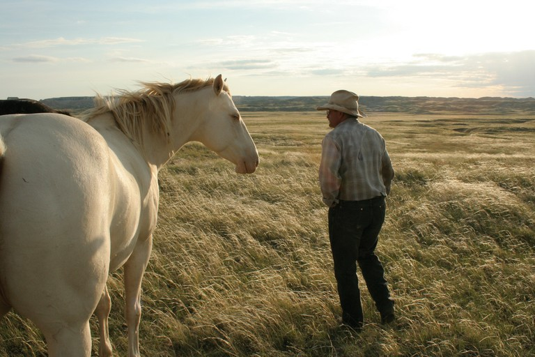 Former national rodeo star Merle Temple runs cattle on land leased from the Bureau of Indian Affairs on the South Unit of the park. He fears his family would be kicked off their land for a second time, if the park plan goes through.
