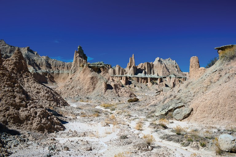 The Palmer Creek area of Badlands National Park, par
