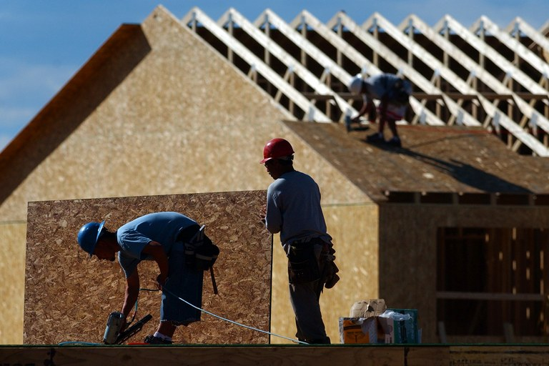 Construction in Castle Rock, Colorado, a suburb of Denver that saw a boom in the early 2000s. Demand for new large-lot suburban homes is a thing of the past, says demographer Chris Nelson.