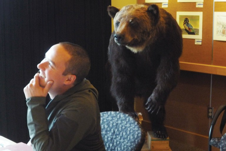 "WASHINGTON ""Bear with me,"" he said, and meant it."