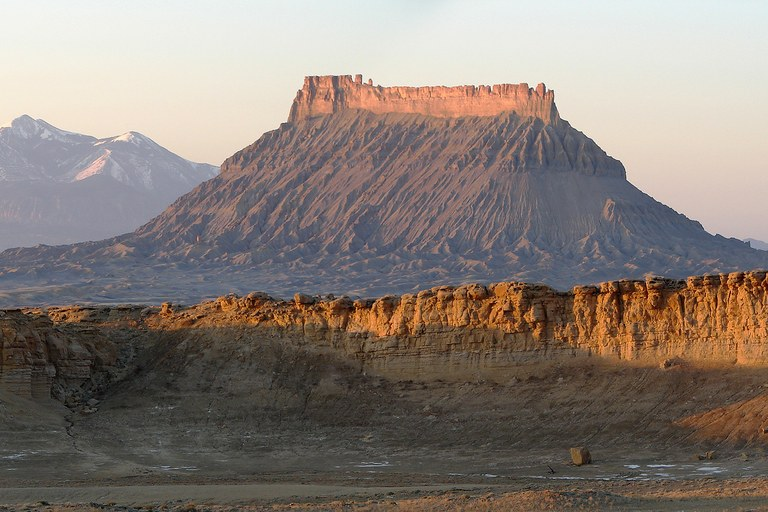 Factory Butte, one of the features within the BLM's Richfield Management Plan.