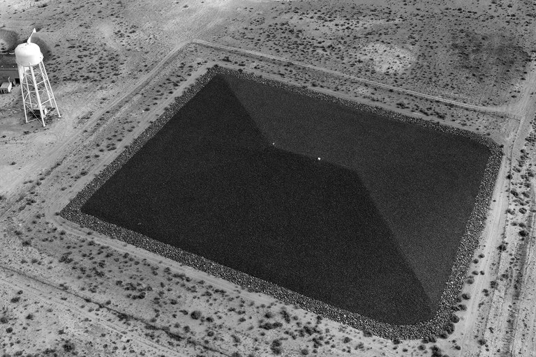 Uranium disposal cells like these in Green River, Utah, are tombs in a sense: Like the Egyptian pyramids, they're intended to safeguard their contents into the future.