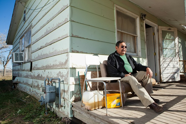 Seven Eggs, a U.S. Army veteran and Crow tribal member, is 'invisibly homeless,' having lived as a guest in his son's home on the Crow Reservation in Montana for nearly a decade. In order to receive aid from a program that is the centerpiece of the Obama administration's push to end veteran homelessness, Seven Eggs would have to move off the reservation.