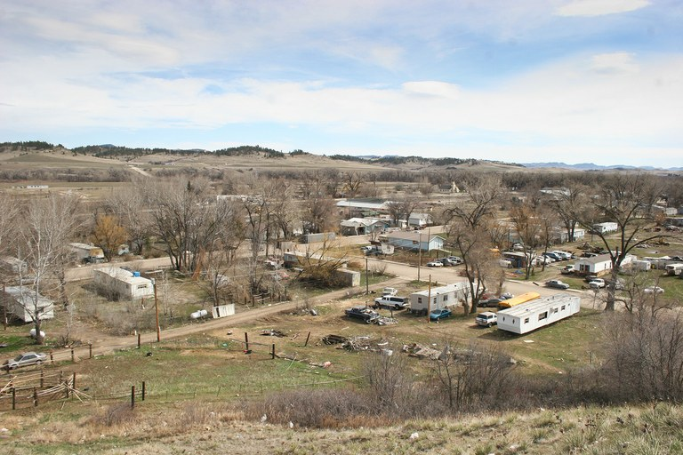 Legal conflicts prevent veterans from using housing vouchers on most reservations. Even if the subsidies were available to vets in Crow Reservation towns like Lodge Grass, Montana, above, there is a scarcity of housing that meets HUD's requirements.