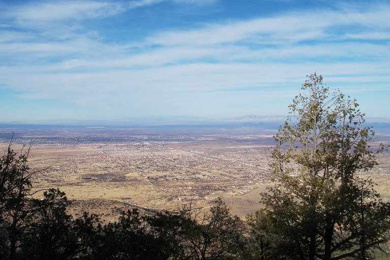 The city of Sierra Vista as seen from the Huachuca mountains.